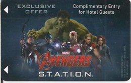Marvel-Avengers-STATION[1123]--key Card, Room Key, Schlusselkarte, Hotelkarte - - Hotelkarten