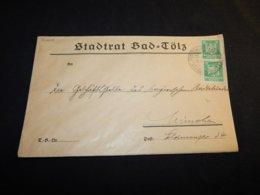 Germany 1924 Bad Tölz Stadtrat Cover__(L-24640) - Germania