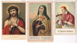 3  Holycards - Ecce Homo, Ste. Theresa, S. Carolus Borrom - Imágenes Religiosas