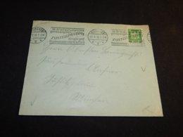 Germany 1926 Munchen Zustellpostamt Slogan Cancellation Cover__(L-24559) - Allemagne