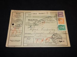 Germany 1928 Krefeld 3 Parcel Card To Switzerland__(L-24720) - Deutschland