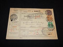 Germany 1928 Krefeld 5 Parcel Card To Switzerland__(L-24721) - Deutschland