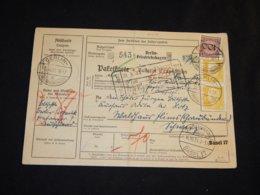 Germany 1931 Berlin-Friedrichshagen Parcel Card To Switzerland__(L-24179) - Covers & Documents