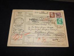 Germany 1931 Berlin-Friedrichshagen Parcel Card To Switzerland__(L-24742) - Deutschland