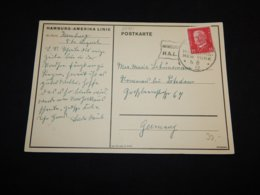 Germany 1932 Hamburg-New York Ship Cancellation Card__(L-27211) - Deutschland