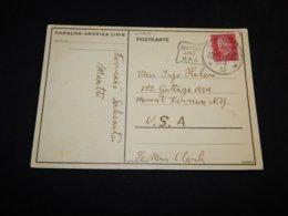 Germany 1933 Hamburg-New York Ship Cancellation Card__(L-27213) - Briefe U. Dokumente