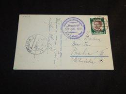 Germany 1934 Sassnitz Rugard Ship Mail Postcard__(L-27039) - Deutschland