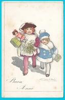 Illustrateur Mauzan  Enfants Poupée Bonne Année Buon Anno - Mauzan, L.A.