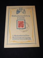 Germany Allied 1947 Essen Briefmarkenausstellung Card__(L-25824) - American,British And Russian Zone