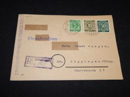 Germany Allied 1947 Ottobrunn Registered Cover__(L-26094) - Gemeinschaftsausgaben