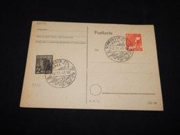 Germany Allied 1947 Schwäbisch Hall Cancellation Card__(L-26153) - Amerikaanse, Britse-en Russische Zone