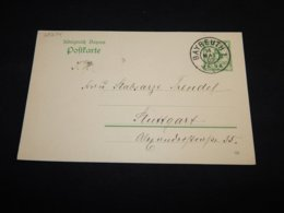 Germany Bayern 1909 Bayreuth 5pf Green Stationery Card__(L-25274) - Bayern (Baviera)