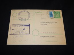 Germany Bizone 1949 Wellerode Card To Munchen__(L-25767) - Zone Anglo-Américaine