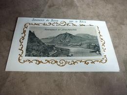 3/125 Carte à Système Souvenir De Bonn Sur Le Rhin Rolandseck Et Drachenfels 10 Vues Bateaux à Vapeur - Cartoline Con Meccanismi