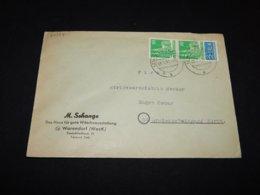 Germany Bizone 1951 Warendorf M.Schange Business Cover__(L-24384) - Zone Anglo-Américaine