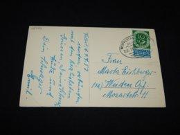 Germany BRD 1948 Wuppertal Postcard To Weiden__(L-25733) - BRD