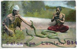 - Birmanie - Burmése Snake Charmers - Charmeurs De Serpent,  éditeur Rangoon,  Peu Courante,  BE, Scans. - Myanmar (Burma)