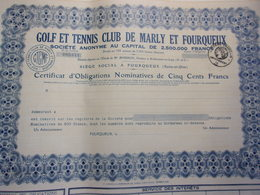 GOLF ET TENNIS CLUB DE MARLY ET FOURQUEUX - Aandelen