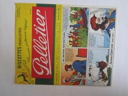 Publicité Buvard Buvards Biscottes Feuilletées Palletier Les Grands Navigateurs Jacques Cartier - Biscottes