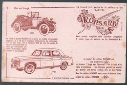 Buvard  RONSARD (cahiers) / PEUGEOT  (PPP10469) - Stationeries (flat Articles)