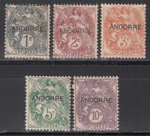1938 Yvert Nº 1, 2, 3, 4, 5, 6, /*/ - Andorra Francesa