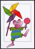 C4095 - Basteln - Glückwunschkarte Zum Besticken - Handarbeit Nähen - Klappkarte - Maus - Anniversaire