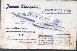 (aviation) Buvard ARMEE DE L'AIR (Bordeaux)  (PPP10471) - Blotters