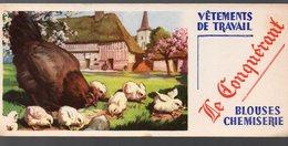 Buvard VETEMENTS DE TRAVAIL LE CONQUERANT  (PPP10473) - Textile & Vestimentaire
