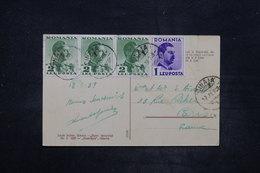 ROUMANIE - Affranchissement Plaisant De Sinaia Sur Carte Postale En 1939 Pour Paris - L 26682 - 1918-1948 Ferdinand, Charles II & Michael