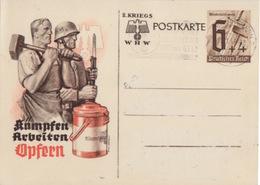 C Entier P 291 2.Kriegs WHW (baillonnette Et Marteau) Obl. Flamme Kaiseslautern Le 14/1/41 - Germany