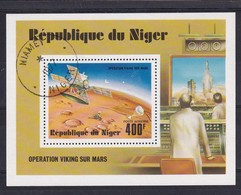 Niger 1977, Space S/s, Miblock 16, Vfu - Niger (1960-...)