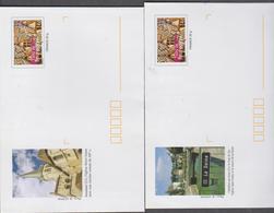 FRANCE 5 Petites Env PAP Prêt à Poster Les Toits De Bourgogne N°YT 3597 5 Illustrations Bourgogne - 2005 - Entiers Postaux