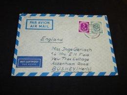 Germany BRD 1953 Kiel Air Mail Cover To UK__(L-25726) - [7] Repubblica Federale
