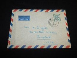 Germany BRD 1954 Munchen Air Mail Cover To Irak__(L-24890) - [7] République Fédérale