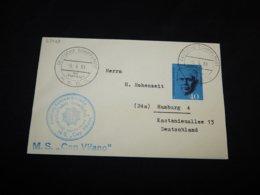 Germany BRD 1961 MS Cap Vilano Schiffspost Cover__(L-27728) - BRD