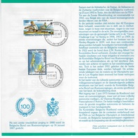 België O.B.C Postfolder 1986   Nr 10  -  1987    Sport - Entiers Postaux