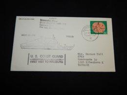 Germany BRD 1973 Hamburg USCGC Gallatin Cover__(L-27807) - [7] Repubblica Federale