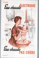 Buvard EAU CHAUDE ELECTRIQUE  (PPP10483) - Electricidad & Gas