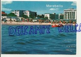 Italie. Marebello Di Rimini. Hôtels Et Plage Vus De La Mer. Pavicart - Hotels & Restaurants