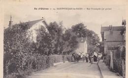 17. ILE D'OLERON. SAINT TROJAN .CPA. ANIMATION RUE PRINCIPALE. ANNEE 1920 + TEXTE - Ile D'Oléron