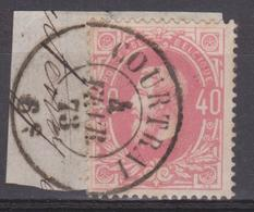 34 DC - COURTRAI 1873.  0308/9 - 1869-1883 Léopold II