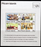 Pitcairn QEII 1980 London '80 Stamp Exhibition MS, Used, SG 205 - Stamps