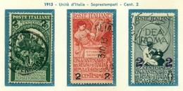 V9671 ITALIA REGNO 1913 Unità Sovrastampati, Usati, Serie Completa, Sass. 99-1091, Buone Condizioni - Used