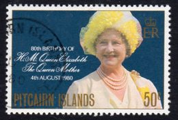 Pitcairn QEII 1980 Queen Mother 80th Birthday, Used, SG 206 - Stamps