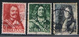 (HOL 92) NEDERLAND //  YVERT 402, 403, 411 // 1943-44 - Used Stamps