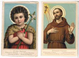 2  Holycards - St. Jean Baptiste, St. François D'Assises - Imágenes Religiosas