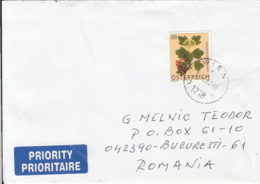 78138- GUELDER ROSE PLANT STAMP ON COVER, 2008, AUSTRIA - 1945-.... 2a Repubblica