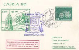 78143- CABRIA 1961 PHILATELIC EXHIBITION, BRIDGE, POST CHASE, SPECIAL POSTCARD, 1961, WEST GERMANY - [7] République Fédérale