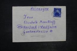 BELGIQUE - Enveloppe De Harchies Pour L 'Allemagne ( Zone Occupée Par Britanniques) - L 26690 - Belgium