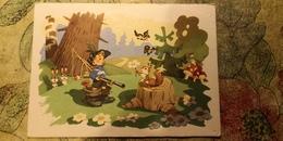 "OLD USSR Postcard  - ""Petya-petushok"" By Znamensky -   Champignon  - Mushroom - Hunting 1962 - Funghi"
